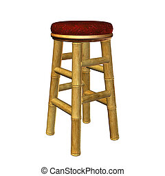 Tiki Bar Stool Illustration - Tiki bar stool illustration on...