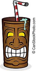 Tiki Drink Cup Cartoon Character