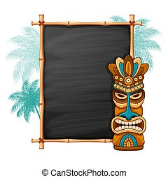 Tiki Mask And Bamboo Frame