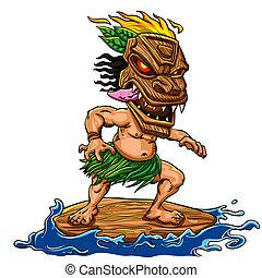 tiki, surfen