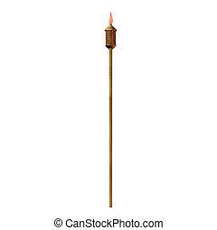 Tiki Torch Illustration - Tiki torch illustration on a white...
