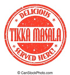 Tikka masala sign or stamp