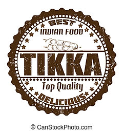 Tikka grunge rubber stamp on white, vector illustration