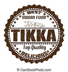 Tikka stamp - Tikka grunge rubber stamp on white, vector...