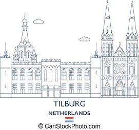 Tilburg City Skyline, Netherlands