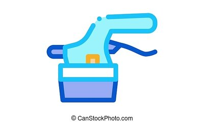 tile cutter Icon Animation. color tile cutter animated icon on white background