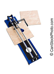 tile cutter on white background