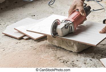 Tile cutting