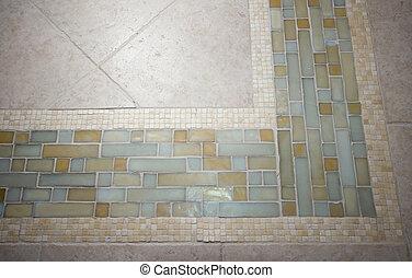 tile detail - detail custom tile work floor hand made spa...