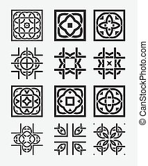 Tile element tribal celtic knot