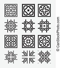 Tile element tribal celtic knot