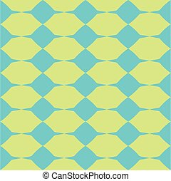 Tile green and blue vector pattern