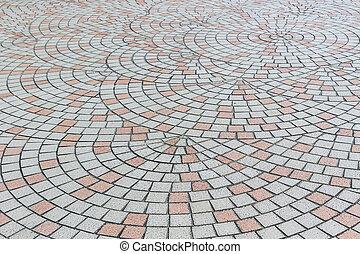 Tile mosaic floor.