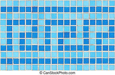 Tile mosaic - Blue tile wave mosaic
