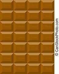Tile of dark chocolate