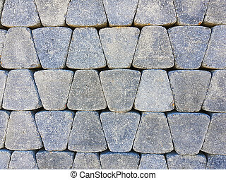 Tile of pavement - Tiles of pavement pile as background