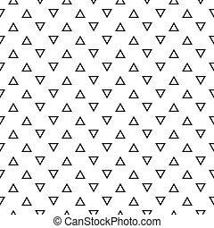 Tile pattern with black triangles on white background