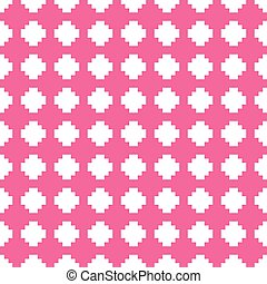 Tile pink and white vector background
