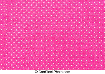 Tile pink cute pattern with white dots.