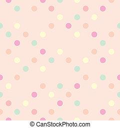 Tile pink polka dots background