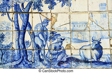 tile), (porcelan, azulejo