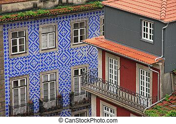 tile), porto, (ceramic, azulejo