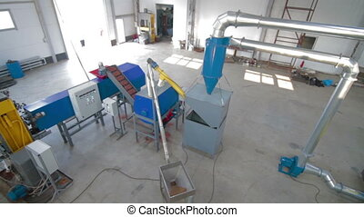 Tile production machine Processing of secondary resources...