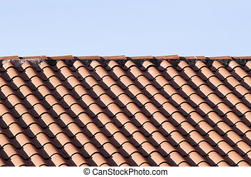 Tile Roof and Blue Sky
