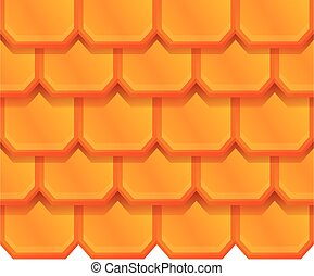 Tile roof icon, cartoon style