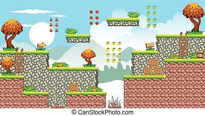 Tile set platform for game 2