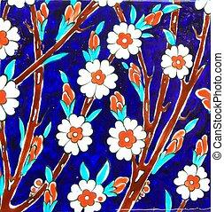 Tile - Old Handmade Turkish Tiles