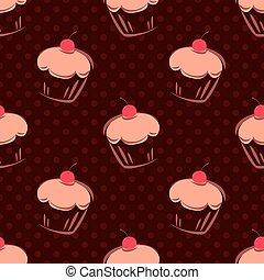 Tile vector cake dots background