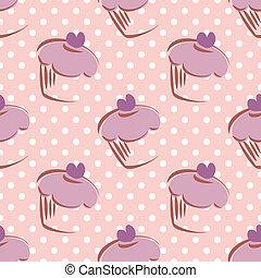 Tile vector cake dots pattern