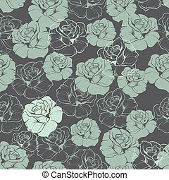 Tile vector floral pattern