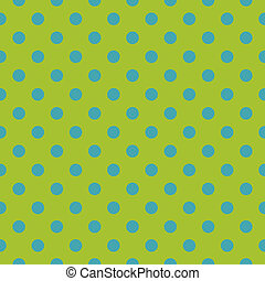 Tile vector green blue dots pattern