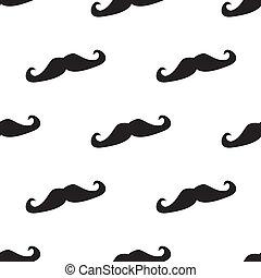 Tile vector mustache pattern - Seamless vector pattern,...