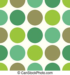 Tile vector pattern with green dots on white background
