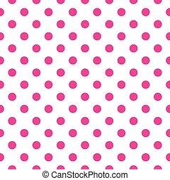 Tile vector pink dots background