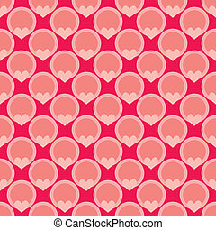 Tile vector pink dots pattern