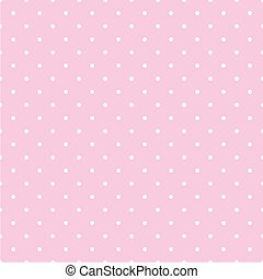 Seamless pattern with white polka dots on a pastel pink vector background. For desktop wallpaper or decoration tile website design