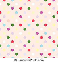 Tile vector polka dots pattern - Seamless vector pattern or...