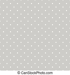 Seamless vector white and grey pattern or tile background with small polka dots. For desktop wallpaper and website design