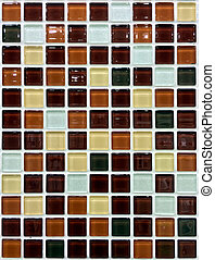 Mosaic tile wall background texture
