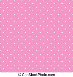 Tile white dots pink vector pattern