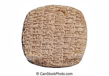 Tile with sumerian writing - Tile with sumerian document in...