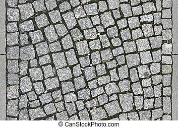 tileable, cobblestone, trottoir, -, textuur