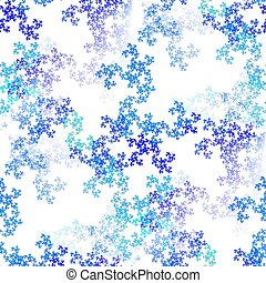 Tileable fractal snowflakes image, seamless replicable horizontally and vertically