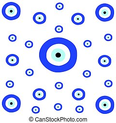 tileable texture with greek blue evil eye - symbol of...