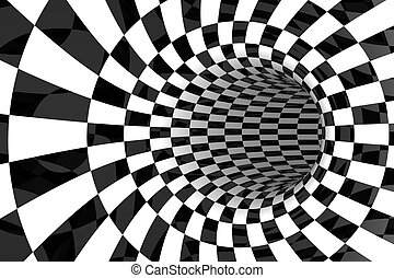 Black & White tiled abstract background