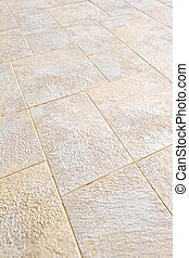 Tiled floor - Ceramic tile flooring close up as background